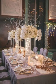 Classy Winter Wonderland Wedding Centerpieces Ideas03