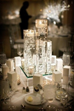 Classy Winter Wonderland Wedding Centerpieces Ideas09