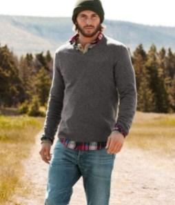 Cozy Plaid Shirt Outfit Christmas Ideas For Handsome Mens04