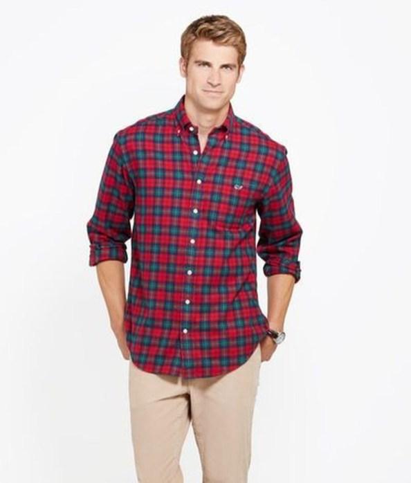 Cozy Plaid Shirt Outfit Christmas Ideas For Handsome Mens46