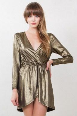 Cute Diy Wrap Mini Dress Ideas For Christmas Party17