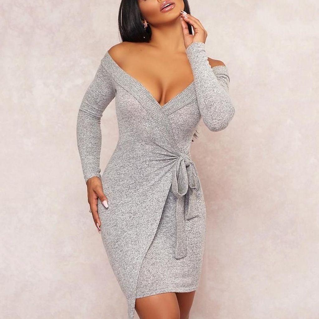 Cute Diy Wrap Mini Dress Ideas For Christmas Party48