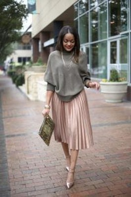 Elegant Midi Skirt Winter Ideas15