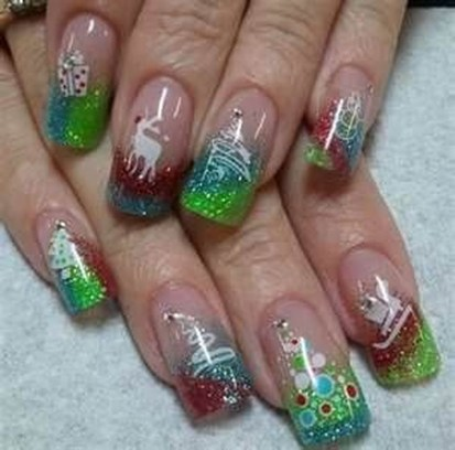 Outstanding Christmas Nail Art New 2017 Ideas09
