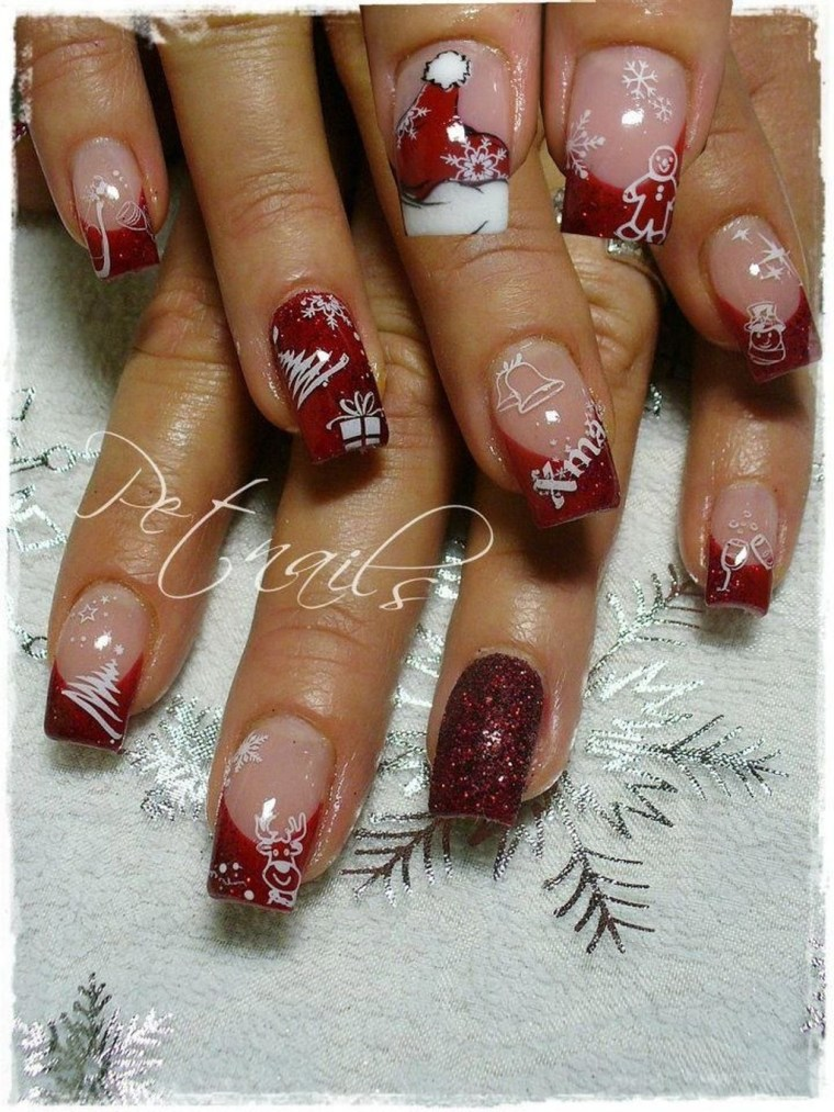 Outstanding Christmas Nail Art New 2017 Ideas13