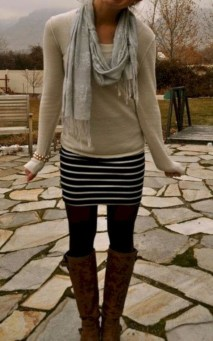 Affordable Winter Skirts Ideas With Tights19