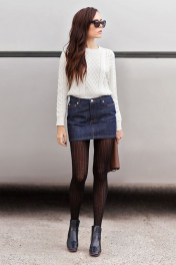 Affordable Winter Skirts Ideas With Tights31