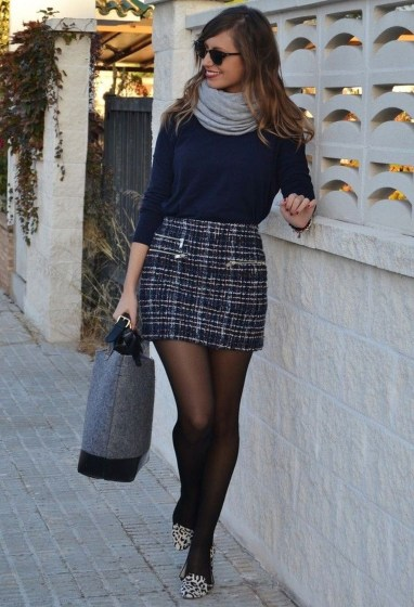 Affordable Winter Skirts Ideas With Tights37