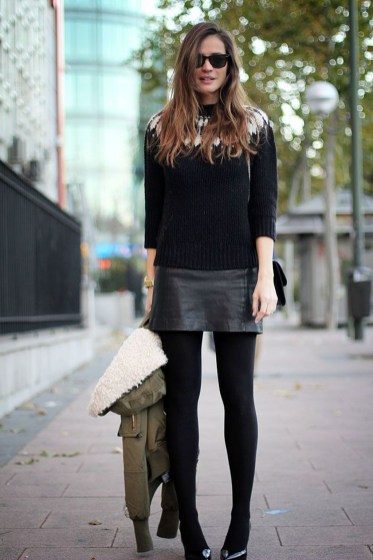 Affordable Winter Skirts Ideas With Tights38
