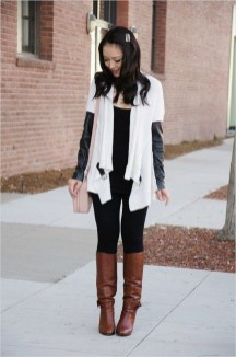 Awesome Winter Dress Outfits Ideas With Boots02