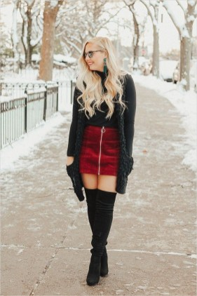 Awesome Winter Dress Outfits Ideas With Boots09