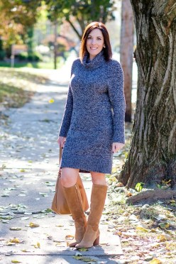 Awesome Winter Dress Outfits Ideas With Boots16