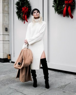 Awesome Winter Dress Outfits Ideas With Boots18