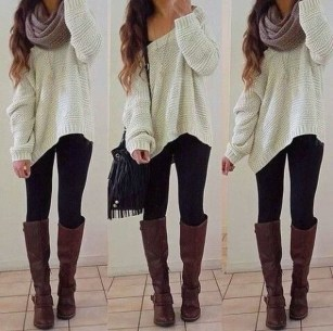 Classy Winter Outfits Ideas For School29