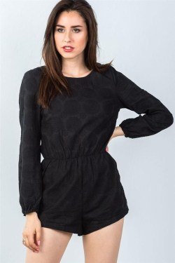 Adorable Black Romper Outfit Ideas44