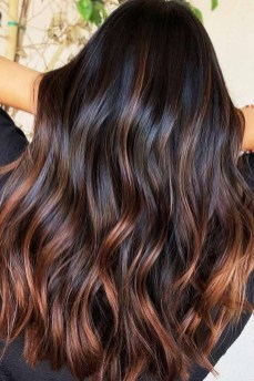 Elegant Dark Brown Hair Color Ideas With Highlights36