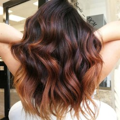 Elegant Dark Brown Hair Color Ideas With Highlights41
