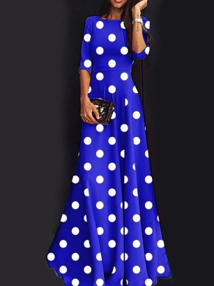 Delicate Polka Dot Maxi Skirt Ideas For Reunion09