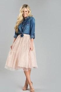 Delicate Polka Dot Maxi Skirt Ideas For Reunion12