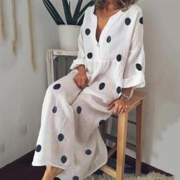 Delicate Polka Dot Maxi Skirt Ideas For Reunion19
