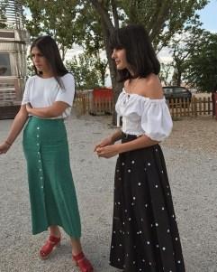 Delicate Polka Dot Maxi Skirt Ideas For Reunion29