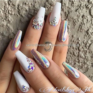 Inspiring Nail Art Ideas For Wedding Party39