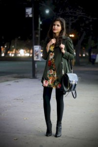 Fancy Work Outfits Ideas With Black Leggings To Copy Right Now01