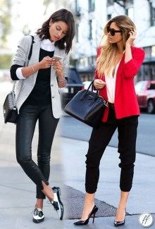 Fancy Work Outfits Ideas With Black Leggings To Copy Right Now32