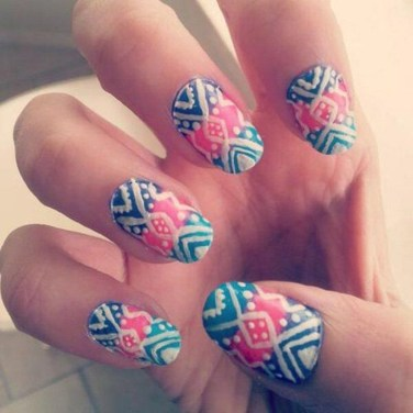 Cozy Aztec Nail Art Designs Ideas You Will Love To Copy24