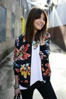 Cozy Combinations Ideas With Floral Blazers You Must Try21