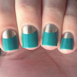 Creative Half Moon Nail Art Designs Ideas To Try07