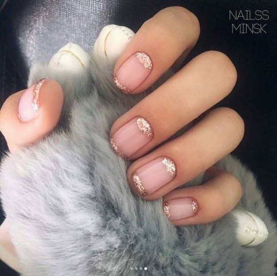 Creative Half Moon Nail Art Designs Ideas To Try29
