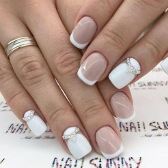 Cute French Manicure Designs Ideas To Try This Season26