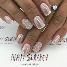 Cute French Manicure Designs Ideas To Try This Season38