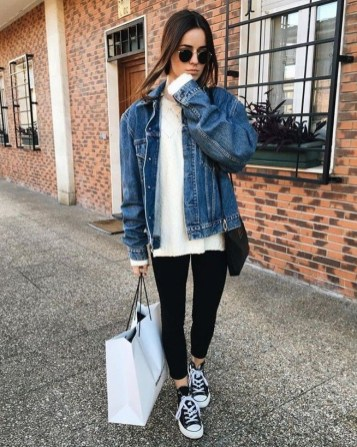 Flawless Outfit Ideas How To Wear Denim Jacket34