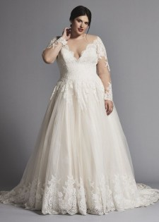 Impressive Wedding Dresses Ideas That Are Perfect For Curvy Brides22