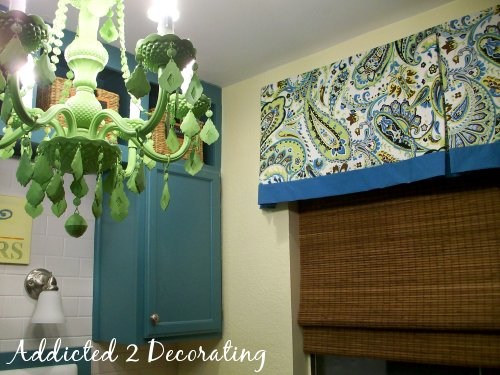 Lined Valance With Contrasting Fabric Band