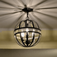 Metal Orb Light Fixture Created With Two Hanging Garden ...