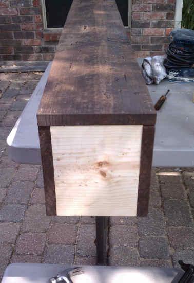 RoughHewn Wood DIY Fireplace Mantel  Addicted 2 Decorating