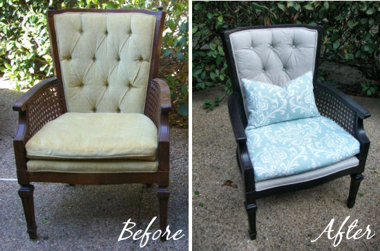 How to Reupholster An Occasional Chair With Tufted Back  Addicted 2 Decorating