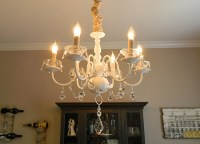 Update A Brass Chandelier With White Paint, Fabric, and ...