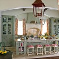Painted kitchen cabinets subtle green house beautiful