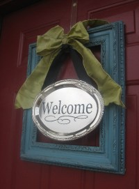 Front Door Decor  Spring Wreath Alternatives