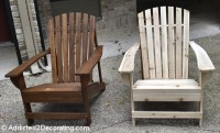how to stain a pine adirondack chair  woodguides