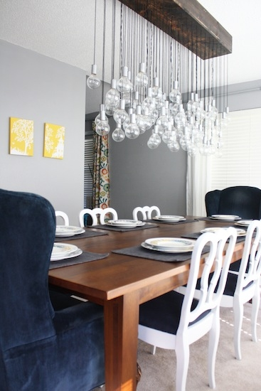 Diy Chandelier Created With 80 Light Bulbs And Wiring