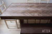 Chevron Wood Table Top, Part 1