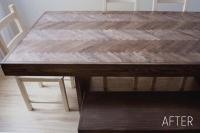 Chevron Wood Table Top, Part 1