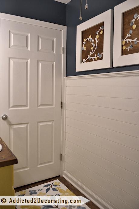 paint colors for kitchen walls unique curtains bathroom makeover day 8 - faux wood plank walls, part 2 ...