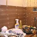 Bathroom makeover day 8 faux wood plank walls part 2