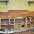 And then the bookcases on top were made from 1 2 inch mdf and framed